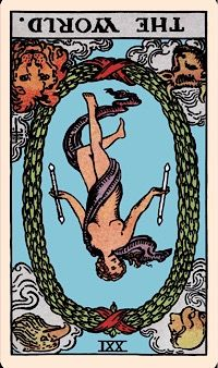 The Card of the Day: The World (Reversed) — Elliot Oracle - Tarot Card Readings