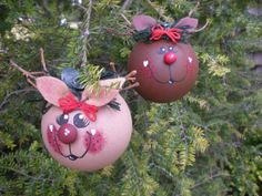 Reindeer Ornament by OccasionalGifts on Etsy
