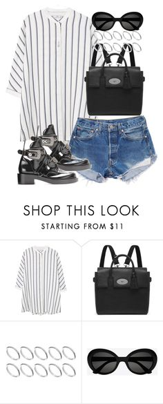 """""""Sin título #3816"""" by hellomissapple on Polyvore featuring moda, MANGO, Levi's, Mulberry, ASOS y Yves Saint Laurent"""