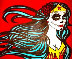 Wonder Woman Día de Los Muertos Kalaka
