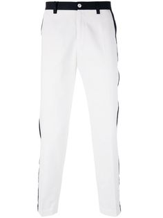 DOLCE & GABBANA Contrast Piped Trousers. #dolcegabbana #cloth #trousers