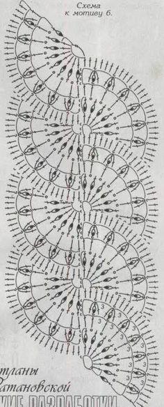 Crochet lace scarf pattern table runners 21 New Ideas Crochet Lace Scarf, Crochet Lace Edging, Crochet Motifs, Crochet Amigurumi Free Patterns, Crochet Borders, Crochet Diagram, Crochet Baby Hats, Afghan Crochet Patterns, Crochet Chart