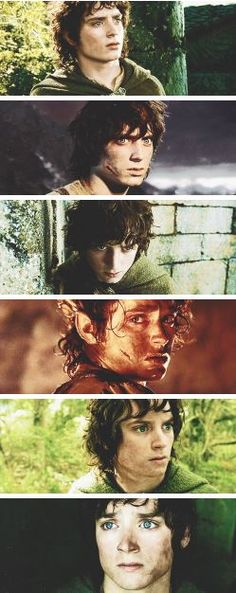I love Frodo and watching his transformation.
