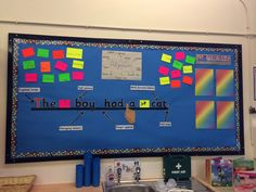 Literacy working wall. Year one