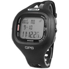 Get into GPS training with this affordable training tool for runners and walkers who simply want speed and distance on their wrist during a workout. The Timex Marathon GPS Watch features:. More Details Marathon Watch, Workout Gear, Digital Watch, Watches, Stuff To Buy, Accessories, Black, Distance, Runners