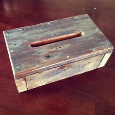 Natural Rustic Reclaimed Wood Kleenex and Tissue Box Cover - Reclaiming America $20
