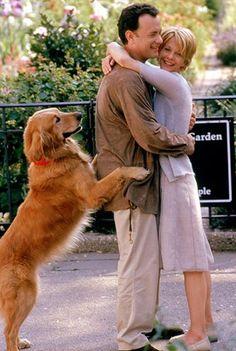 """You've Got Mail"" (1998) Sweet behind the scenes photo of Tom Hanks & Meg Ryan laughing :)"