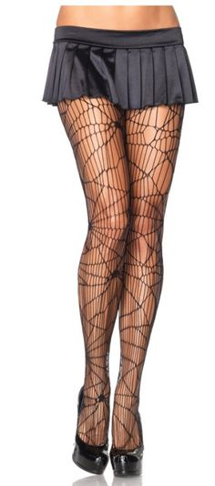 Spider Web Pantyhose - Accessories & Makeup
