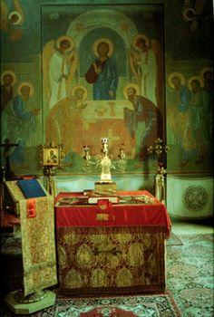 Russian orthodox altar