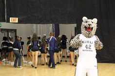 Cat getting pumped up for intros! Three Point Contest, 2013 Jaguar, Pep Rally, Slam Dunk, Hot Shots, Live Music, Madness, Pumps, Cat