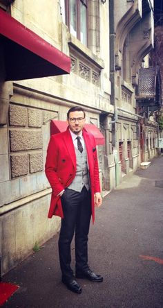 Cashmere red overcoat!