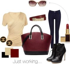 """""""Just working"""" by hedti on Polyvore"""