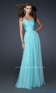 Strapless La Femme 17475 Dress at SimplyDresses.com I don't know about the sparkly stuff at the top... @Savannah McCall
