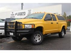 2005 DODGE RAM 3500 - QUAD CAB - LARAMIE - 4WD ! TURBO DIESEL ! GORGEOUS YELLOW COLOR ! COLOR MATCHED CANOPY, BUMPER GUARD, FENDER FLARES, CUSTOM FRONT / REAR