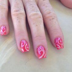 Gel nails cute design