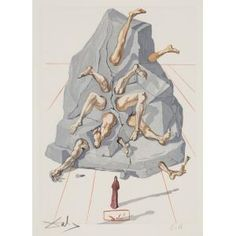 The Simoniacs (from the Divine Comedy Series) by Salvador Dali. Between 1951 and 1960 Salvador Dali created 101 watercolor drawings on woodblocks that would… Salvador Dali Kunst, Figueras, Surreal Art, Apocalypse, Les Oeuvres, New Art, Cool Art, Sculpture, Drawings