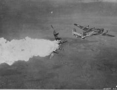 B-24 HIT with DIRECT IMPACT by a GERMAN FLAK (The true face of war)