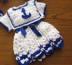 baby sailor costume newborn sailor set baby navy by paintcrochet