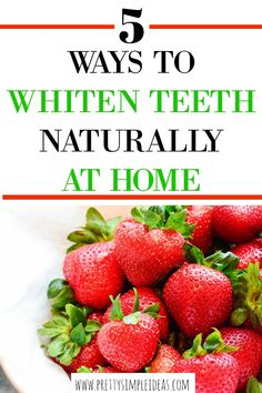 Are you looking to whiten your teeth naturally at home? Then you must try these 5 tips that include strawberries and turmeric! They are all safe ways to whiten your teeth, even if your teeth are sensitive. So give them a try today! Gum Health, Oral Health, Dental Health, Dental Care, Health Care, Teeth Health, Healthy Teeth, Causes Of Mouth Ulcers, Best Mouthwash