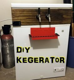 Last week we talked about making the switch to all-grain brewing .and the kegerator wasn't far behind. We held off on the kegerator. New Man Cave Ideas, Diy Kegerator, All Grain Brewing, Insulation Board, Upright Freezer, Step Drill, Chest Freezer, Drip Tray, Homebrewing