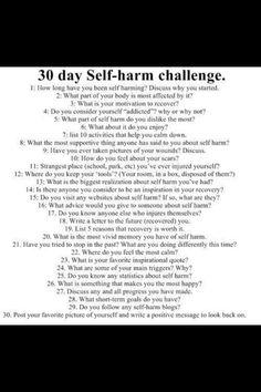#self #harm #challenge