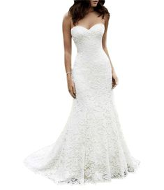 63e76981c13 online shopping for Ikerenwedding Women s Sweetheart Lace Beach wedding  Dress Mermaid Bridal Gown from top store. See new offer for Ikerenwedding  Women s ...