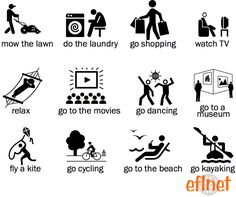 Things to Do on the Weekend - Worksheets   EFLnet