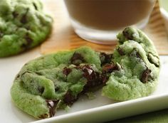 Mint chocolate chip cookies!!