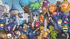its a tribute to the 2016 mobile game of the year supercell's Clash royale . sorry didnot included all the charecters cause it won't fit in a mobile canvas where i mostly draw. i hope you like it ....