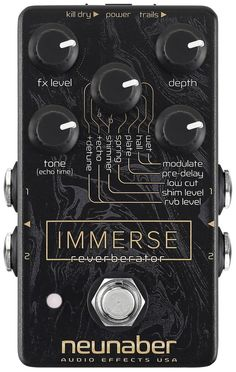 Would love this pedal!! Immerse Reverberator Pedal - Neunaber Audio Effects - 1