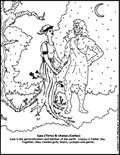 Gaia and Uranus (Terra and Coelus) Free Coloring Pages, Coloring Books, World Cycle, Story Of The World, Greek Mythology, Gaia, Mystic, Roman, Homeschool