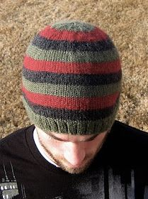 """I'd Rather Be Knitting: """"Oliver"""" Jogless Stipes Hat"""
