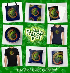 St.Patrick's Irish Twist  #gaelic #knots #irish #stpatrick #ireland #traditional #celtic #celticstyle #stpatricksday #green #stickers #paddysday #holidays #hibernia #dublin #eireann #eire #society6