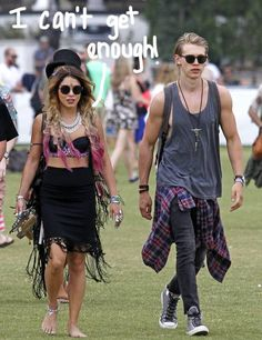 great outfits Vanessa Hudgens & Boyfriend Austin Butler Head Back To Coachella For Weekend Two!