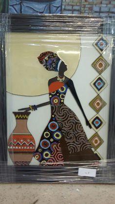 Afrikalı yalnız kadın.