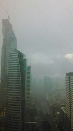 Rain in Sathorn, Bangkok