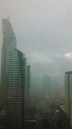 Rain in Sathorn, Bangkok