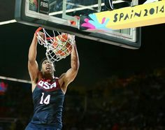 Anthony Davis USA BASKETBALL Spain 2014 vs Turkey