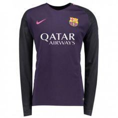 057376408 16-17 Barcelona Away Thailand Fans Long Sleeve Women s Soccer Jersey  Barcelona Shirt