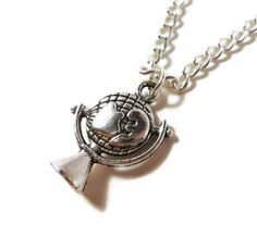 Globe Charm Necklace Silver Earth Necklace by BusyBeeBeadedJewelry, $8.95