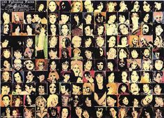 Leee Black Childers  A collage named Fabulous Faces is a wonderful montage of all things art and rock 'n roll from the 60s and 70s