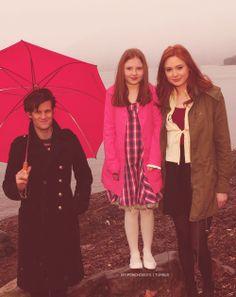 Matt Smith, Karen Gillan and her cousin, Caitlin Blackwood!