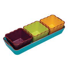 KitchenCraft Mexican 4 Piece Ceramic Dip Serving Set | Prezola - The Wedding Gift List