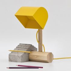 Bangkok designers THINKK studio have created a lamp that slots together like a children's toy.
