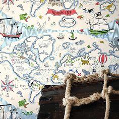 Buy Sanderson Treasure Map Wallpaper Online at johnlewis.com