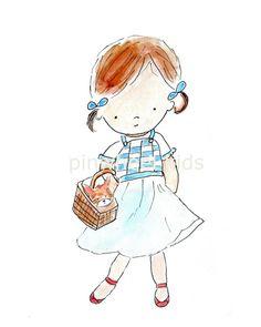 Children's Art Girl Nursery Print Dorothy Wizard by PinwheelKids