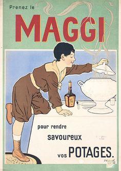 OLD Maggi Advertising Poster 1900s... ...réépinglé par Maurie Daboux ✺❃✿ ღ