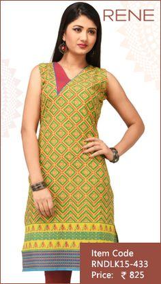 #Yellow #Cotton #Kurti #Fashion #Apparels #Clothing #EthnicWear #Style #Women