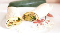 Wraps courgettes, tomates et mozzarella