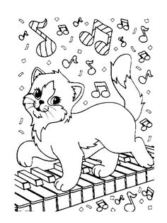 coloring page Musical Instruments Kids-n-Fun
